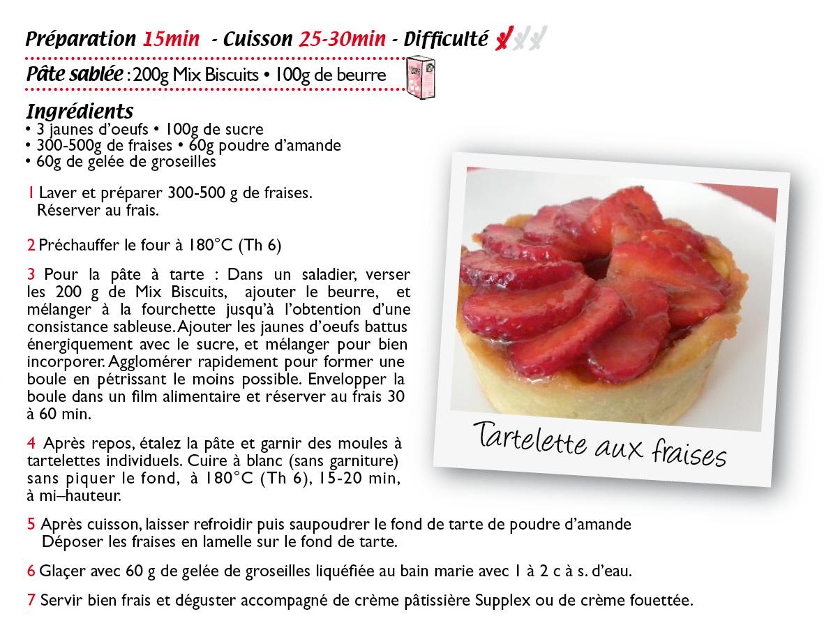 tartelettes aux fraises Sans Gluten Supplex