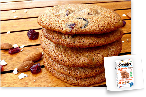 cookies sans gluten mix biscuits supplex