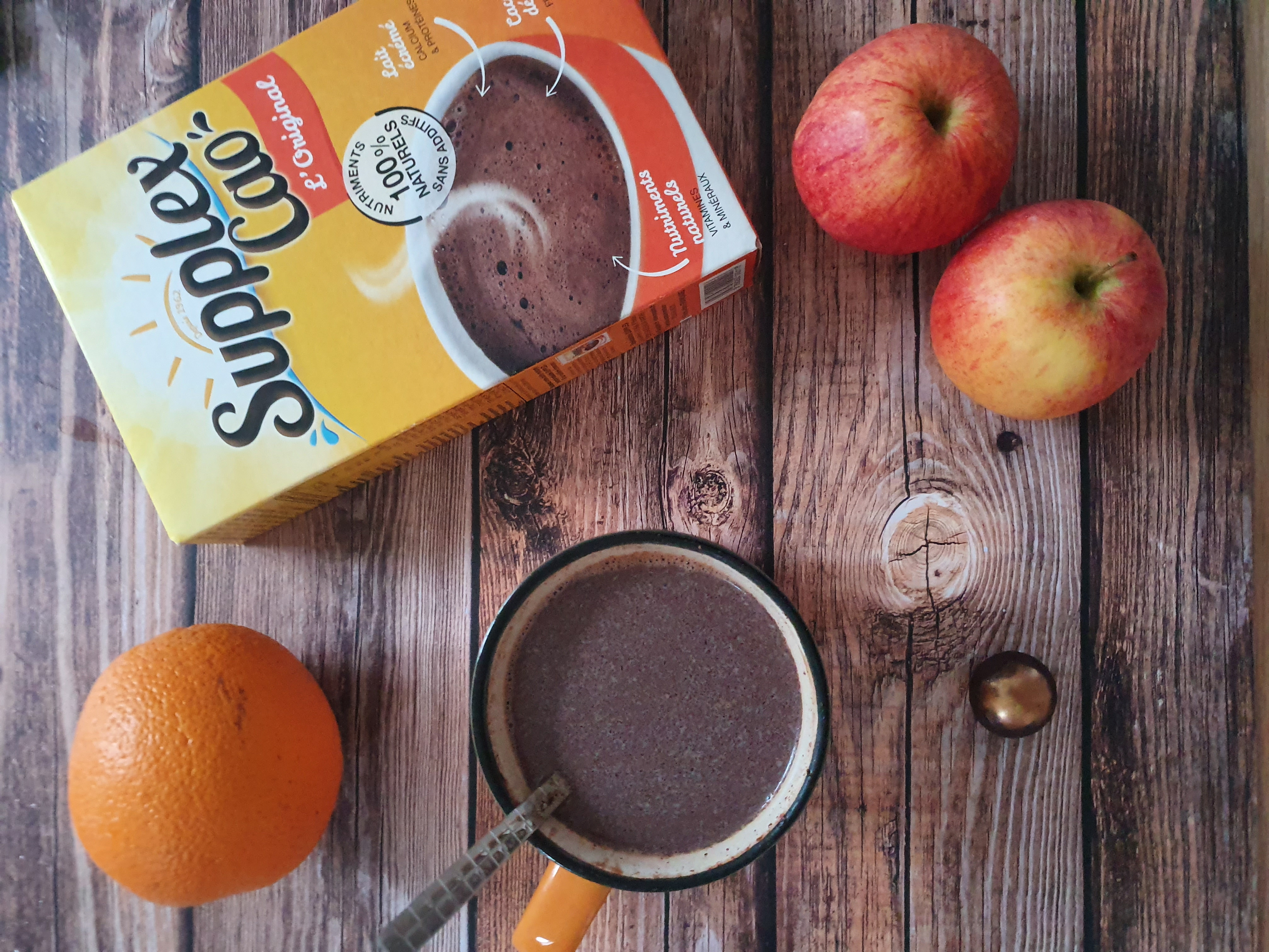 Retrouvez la recette du hot chocolate bomb avec du supplex cao.